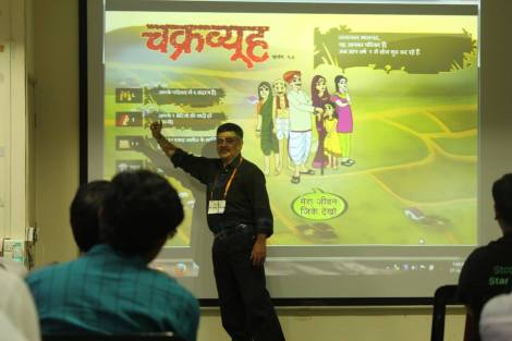 Parag Presenting ChakraView at Manthan Workshop 3